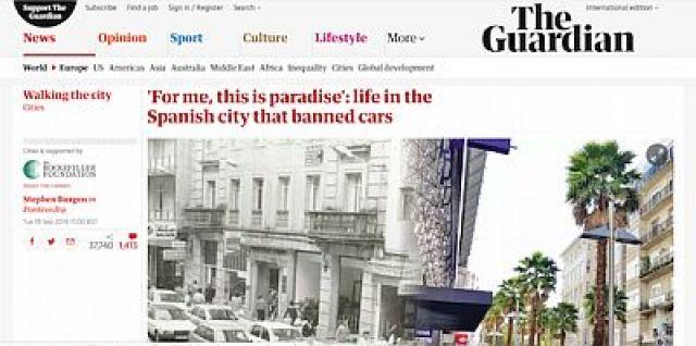 O impacto internacional do Modelo Pontevedra chega ás páxinas de The Guardian