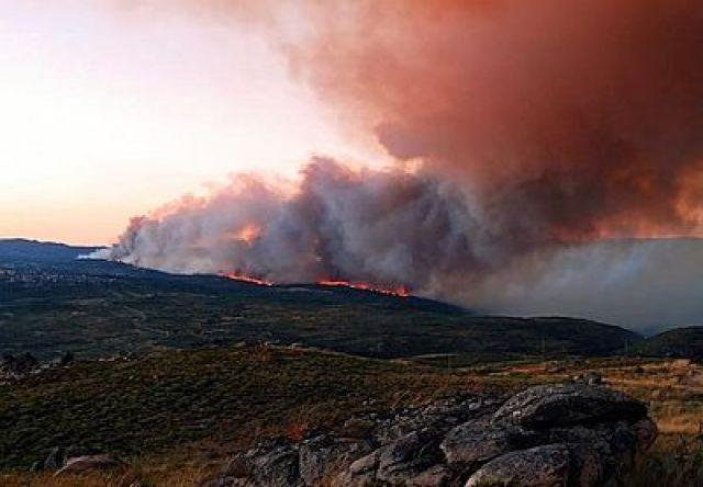 Máis de mil hectáreas arrasadas en tres incendios na provincia de Ourense